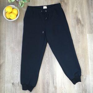 Wilfred Buffon Black Jogger Pants sz M